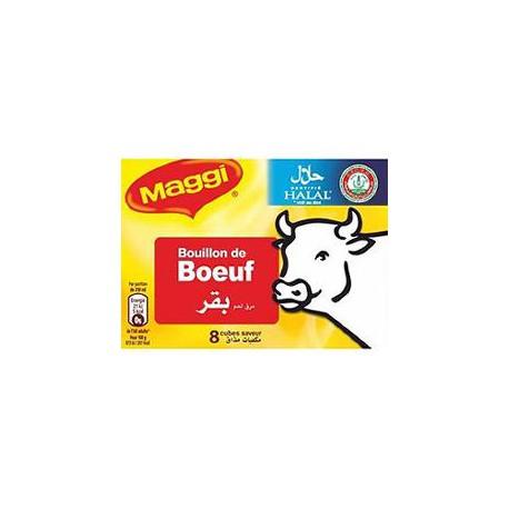 Tablette 8X10G Bouillon Boeuf Halal Maggi