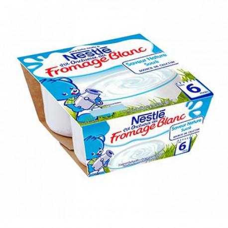 Nestle P Titi Onctueux Fromage Blanc Nature Sucré Nestlé 4X100G