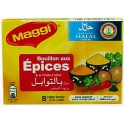 Tablette 84G Bouillon Epice Halal Maggi