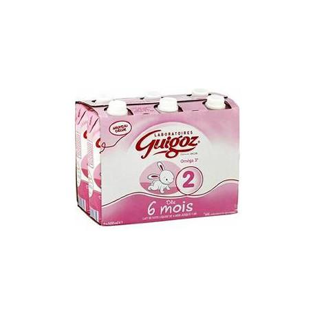 6X500Ml 2Eme Age Lait Liquide Guigoz