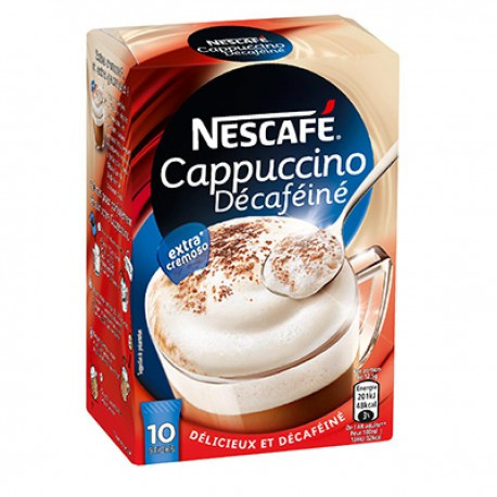 Nescafe Cappuccino Decafeine Sticks 10X 12.5G