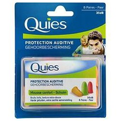 Quies Protections Auditive Mousse Fluo X16