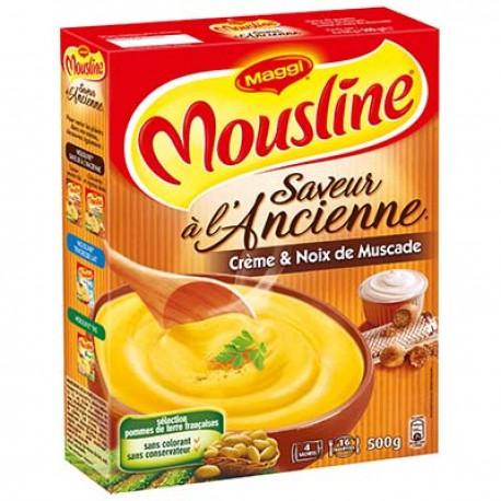 Mousline Puree Saveur Ancienne Creme/Noix Muscade Etui 4X124