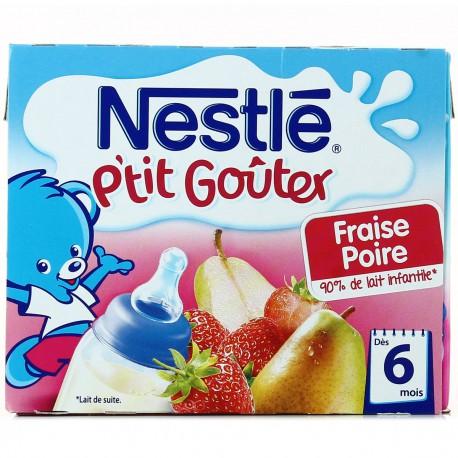 Nestle Lait Et Fruits Fraise/Poire 6 Mois Nestlé Briques 2X250Ml