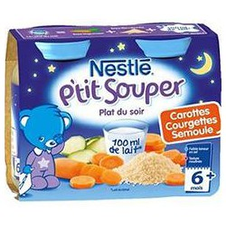 Pack 2X200G Pot Petit Souper Carotte/Courgettes Nestle