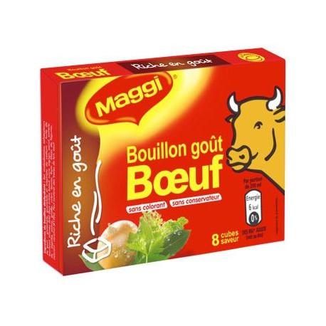 8 Tablettes 80G Bouillon Boeuf Maggi