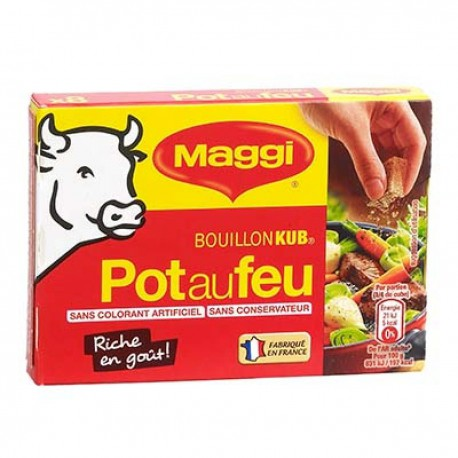 8 Tablettes 80G Bouillon Pot Feu Maggi