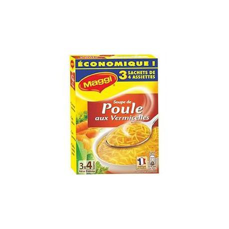 Maggi Potage Déshydratées Poule Vermicelles Maggi Étui 3 Sachet 1L