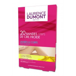 20 Bandes Cire Froide+Azulen.Laurence Dumont