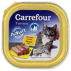 100G Terr.Poulet Chat Carref