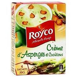 Royco Soupe Déshydratée Asperges Croûtons Les 4 Sachets De 20 Cl