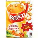 Royco Soupe Déshydratée Légumes Croûtons Les 3 Sachets De 20 Cl