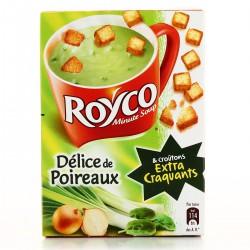 Royco Soupe Déshydratée Poireaux & Croûtons La Boite De 3 Sachets - 64,8 G