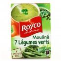 Royco Soupe Déshydratée Mouliné 7 Légumes Verts Les 4 Sachets