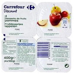 4X100G Dessert Fruit Pommes