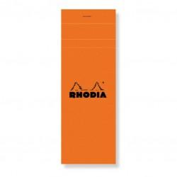 Rhodia Bloc De Bureau Rhodia 7.4X21 Cm 160 Pages Petits Carreaux Noir