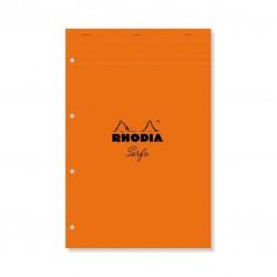 Rhodia Bloc Orange N°20 21X31,8Cm 80F Agrafées 80G Q.5X5 Perf. 4T