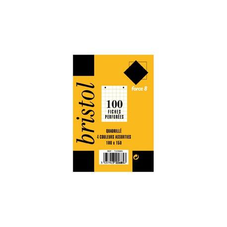 100 Fiche Bristol P Ass 100X150 5X5 Rhodia