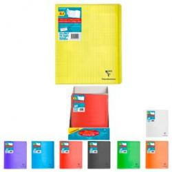 Clairefontaine Cahier Piqué 21X29,7Cm 96 Pages Grands Carreaux Seyes Koverbook Bleu Clair Transparent