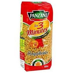 Panzani Pâtes Les 3 Minutes Coquillettes Le Paquet De 500 G