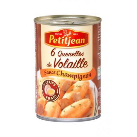 Petit Jean Quenelles Volaille Sauce Forestière Petit Jean Boîte 1/2 400G