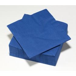 50 Serviette Bleu Nuit 33Cm