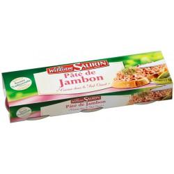 Pack 3X1/10 Pate Jambon William Saurin