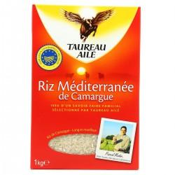 Taureau Ailé Riz Blanc Long Grain Le Paquet De 1 Kg