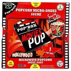 100G Popcorn Sucre Movies Pop