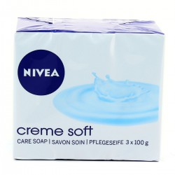 Nivea Bath Care Savon Creme Soft 3X100G