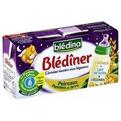 Bledina Lait Et Céréales Bébé Blédiner Dès 6 Mois, Pommes De Terre Les 2 Briques De 250 Ml
