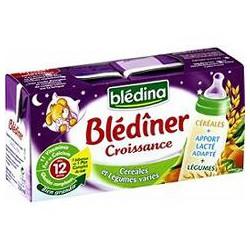 Bledina Lait Et Céréales Bébé Blédiner Dès 12 Mois, Légumes Variés Les 2 Briques De 250 Ml