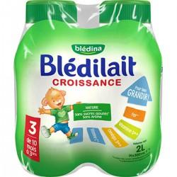 Bledina Lait Blédilait Croissance 10 À 36 Mois Bouteille 4X500Ml