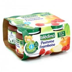 Blédina Pots Pommes Framboises De 6 À 36 Mois Pack De 130 G X 4 - 520 G