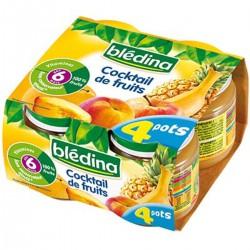 Blédina Pots Cocktail De Fruits De 6 À 36 Mois Pack De 130 G X 4 - 520 G
