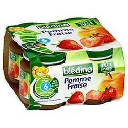 Pack 4X130G Pomme/Banane/Fraise Bledina