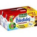 Bledina Lait Croissance Chocolat Saveur Banane Blédidej 4X250Ml