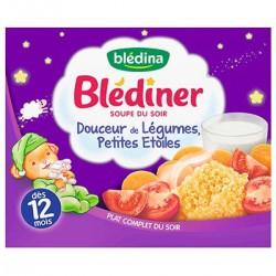 Bledina Douceur Légumes Petites Étoiles 12Mois Blédiner 2X250Ml