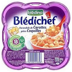 Bledina Blédichef Carottes Coquillette Blédina 260G