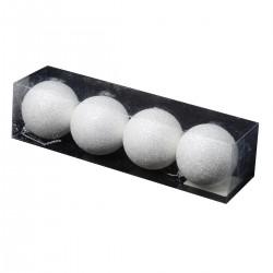 Lot De 4 Boules Neige 3D