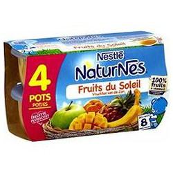 Pack 4X130G Naturnes Fruit Du Soleil Nestle