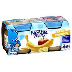 Pack 2X80G P Tit Pot Banane Nestle