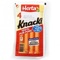 Herta Knacki Original -Sel Herta X4 140G