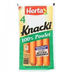Herta Knacki Poulet X4P 140Gr